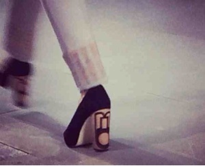 Wooden printed heels at Holly Fulton. #amazing